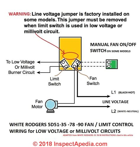 white rodgers fan limit how to install wire the fan limit controls on furnaces