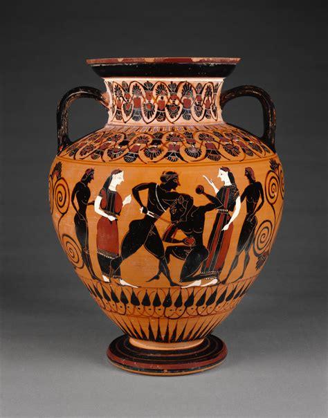 Athenian Figure Vases by Attic Black Figure Neck Hora Getty Museum