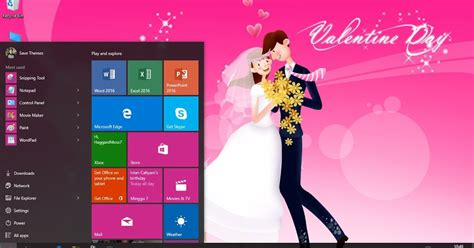 valentine themes for windows 10 happy valentine day 2016 theme for windows 7 8 8 1 and 10