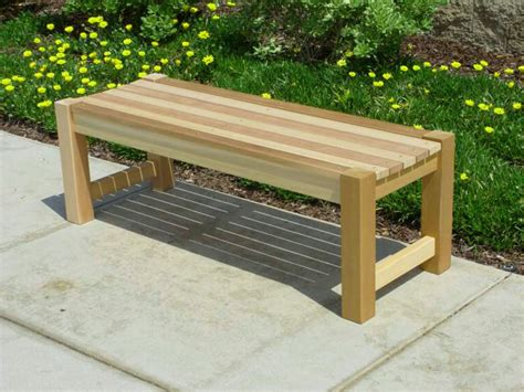 build a bench seat for garden outdoor bench treenovation