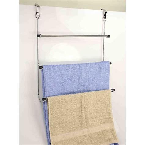 door towel racks for bathrooms home basics 3 tier over the door towel rack best