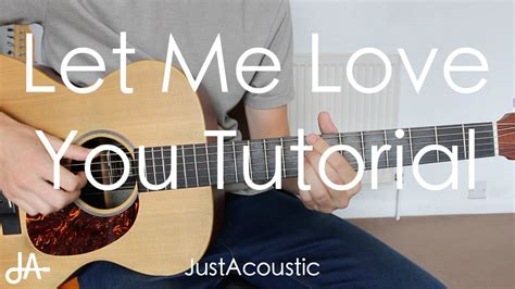 tutorial i love you guitar how to play let me love you dj snake ft justin bieber