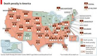 map of u s penalty numbers bonus map of execution