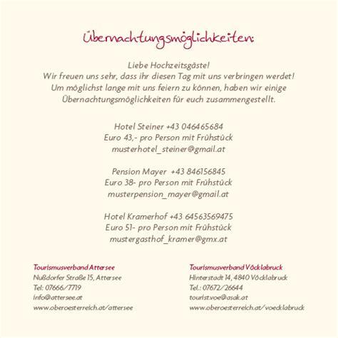 Hochzeitseinladung Informationen by Einlagekarten Freudestrahlend