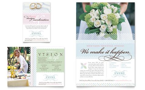 Wedding Event Planning Flyer Ad Template Design Event Management Flyers Templates