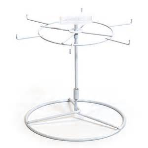 countertop spinner rack wire white 6 hook 10 quot h