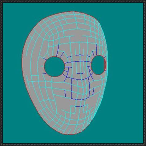 jason mask template jason voorhees mask free paper model