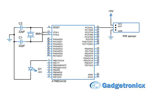 pir motion sensor interface with avr microcontroller