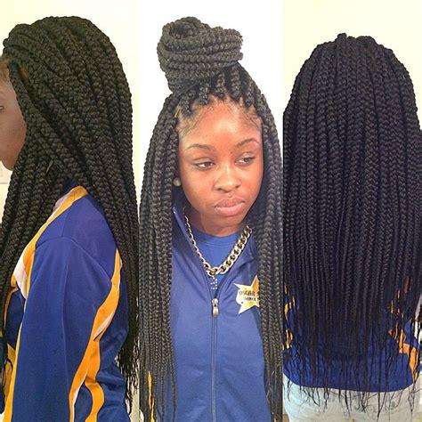 medium single braids styles medium long box braids single braids pinterest long