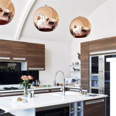 Modern Kitchen Pendant Lighting Decordemon Copper Pendant Lights In The Kitchen