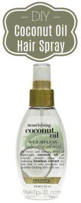 diy setting spray coconut diy coconut hair spray