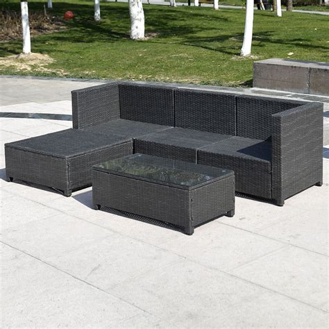 equipment outdoor wicker patio rattan furniture set pe