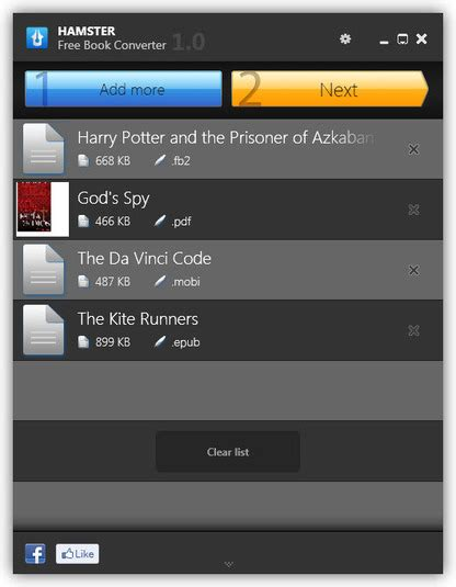 format converter ebook free convert ebooks for any reader with hamster ebook