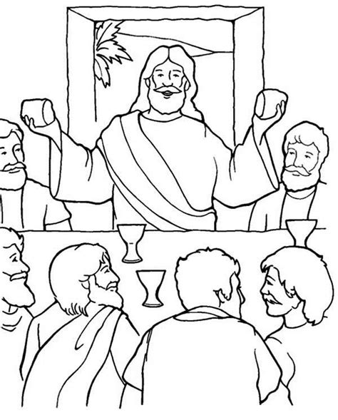 coloring page for the last supper last supper coloring pages jesus shared dipped bread to