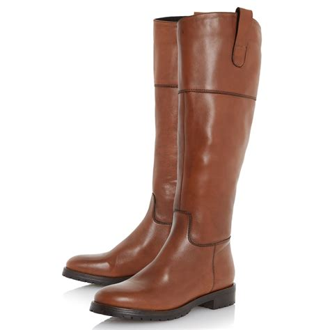 brown knee high boots dune timi knee high heeled boots in brown brown