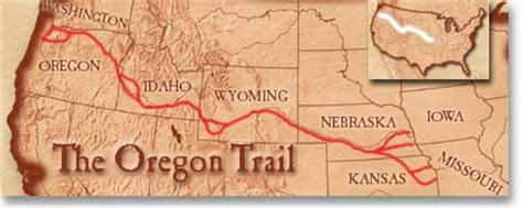 map of oregon trail 1850 the oregon trail
