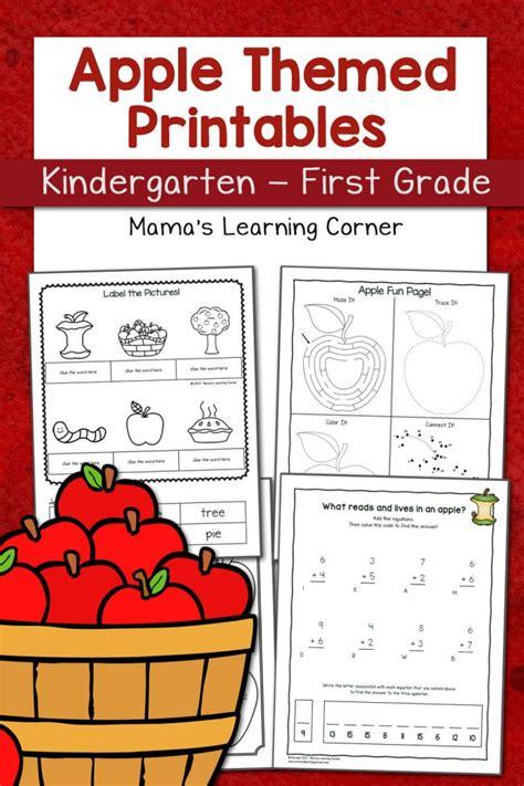 Apple Worksheets Grade by Apple Worksheets For Kindergarten Grade Mamas