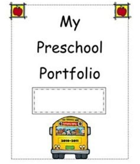 1000 Images About My Preschool Portfolio On Pinterest Preschool Portfolio Memory Books And Children S Portfolio Template Free