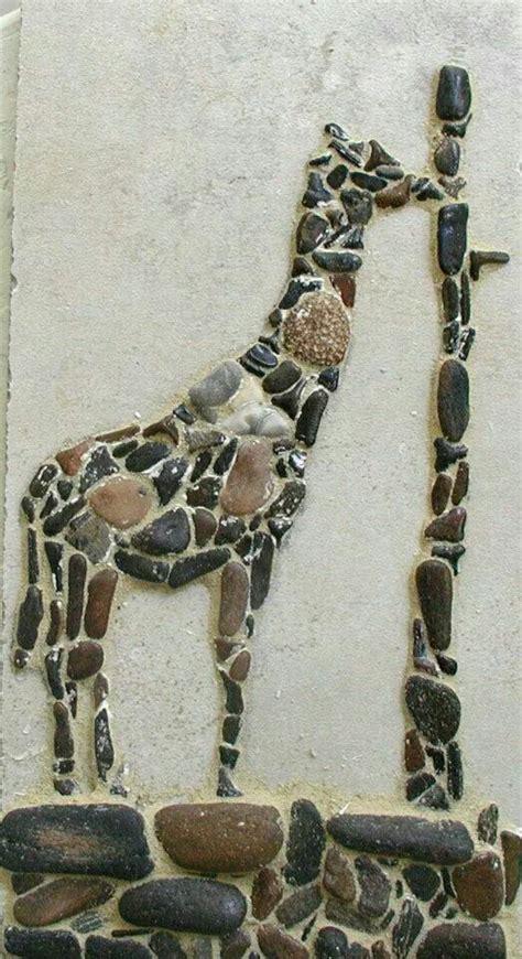 mosaic giraffe pattern giraffes mosaics and pebble mosaic on pinterest