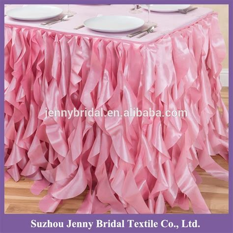 curly willow table skirt ts017t 21ft polyester taffeta curly willow table cloth