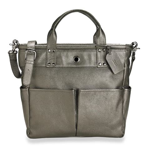 St Tropez Tote by St Tropez Tote In Pewter Levenger