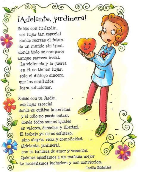 mensaje para maestra jardinera maestra jardinera adelante poema