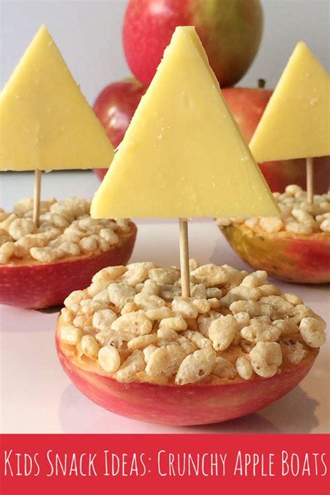 simple kids snack ideas crunchy apple boats childhood101