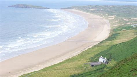 Rhossili Bay Cottages by Rhossili Bay Cottage Evacuated After Grass