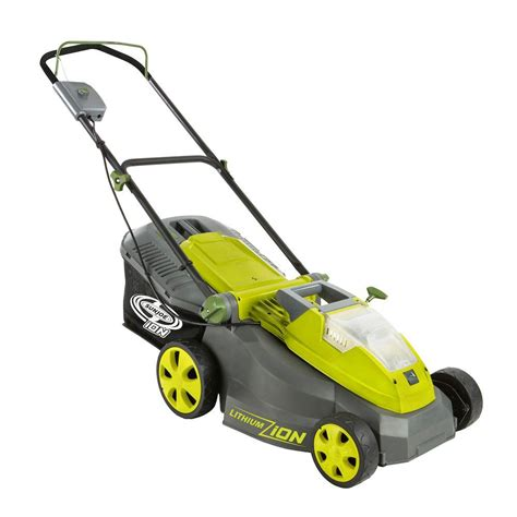 sun joe ion16lm 16 in 40 volt cordless battery push mower