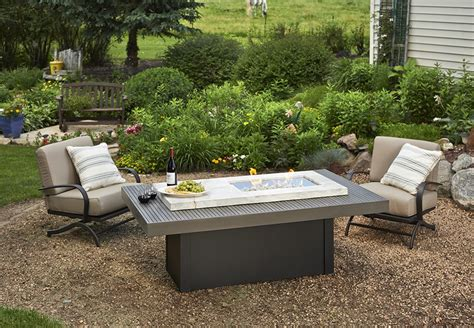 Outdoor Patio Set With Gas Pit by Boardwalk Linear Gas Pit Table