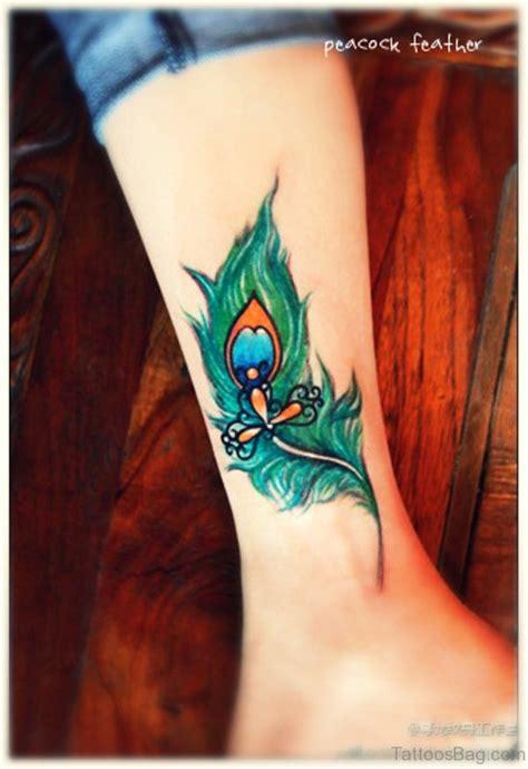 tattoo feather leg 30 fantastic peacock tattoos on leg