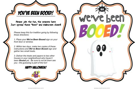 You Ve Been Booed Free Printable