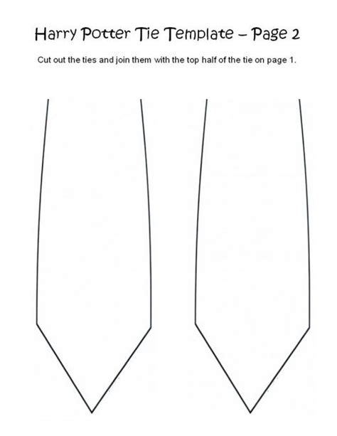 harry potter tie template 17 best images about no sew harry potter house tie on