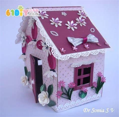 making a house 废纸盒手工制作房子 纸盒手工 巧巧手幼儿手工网