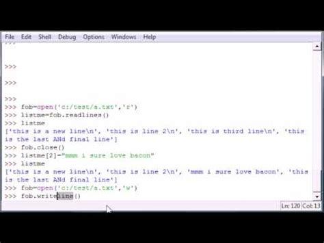 python tutorial youtube programming python programming tutorial 43 writing lines youtube