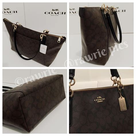 Coach Set Pouch 7105 Bordirpermata coach black brown leather signature wallet set tote tradesy