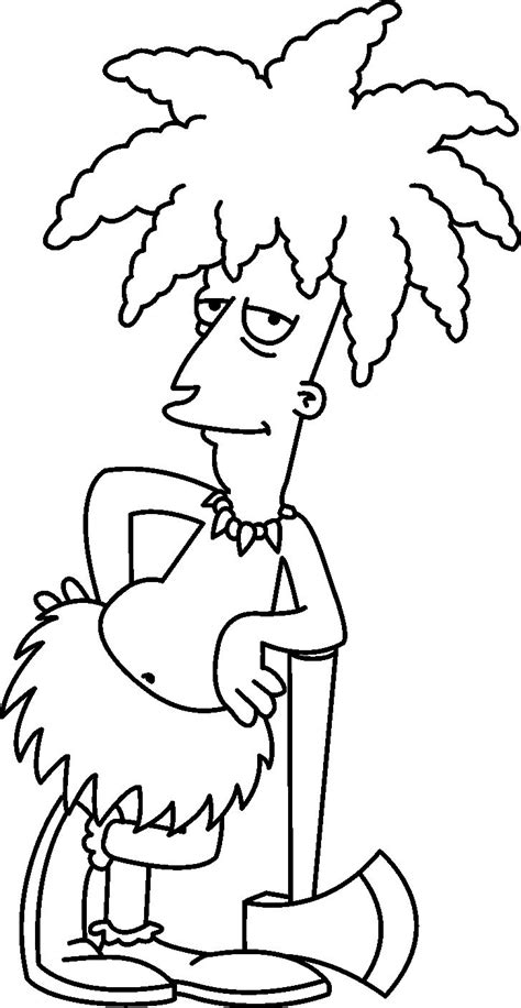 Simpsons Coloring Book Pages