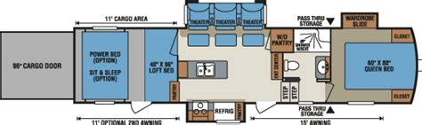 kz hauler floor plans venom luxury fifth wheel hauler floorplans photos
