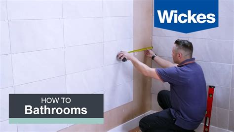 how to measure a bathroom for wall tiles how to tile a bathroom wall with wickes youtube