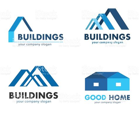 Roof Building Plans by Vector Logos For Construction And Building Companies Stock