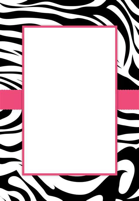 free printable zebra print paper free printable zebra print baby shower invitations party xyz