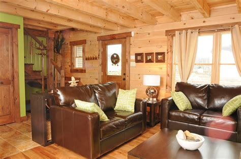 Log Home Living Rooms by Modernloghome0005