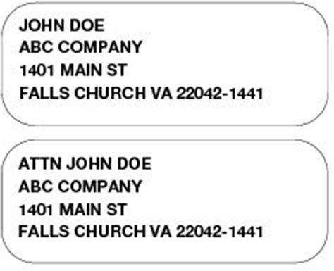 business letter envelope attention line 214 attention line postal explorer
