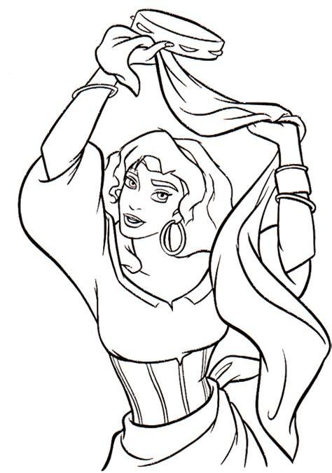 disney esmeralda coloring page esmeralda il gobbo di notre dame