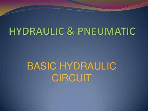 hydraulic tutorial powerpoint basic hydraulic circuit