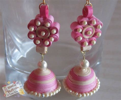 How To Make Jhumka Earrings With Paper - diy how to make paper quilled jhumka paper quilling