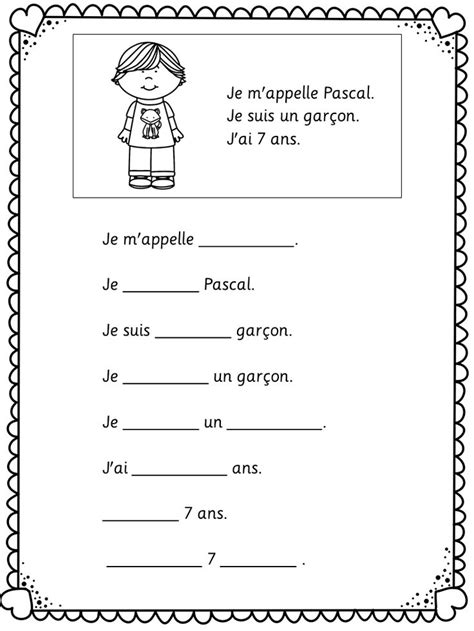 printable worksheets in french 11 best images of beginner french worksheets free
