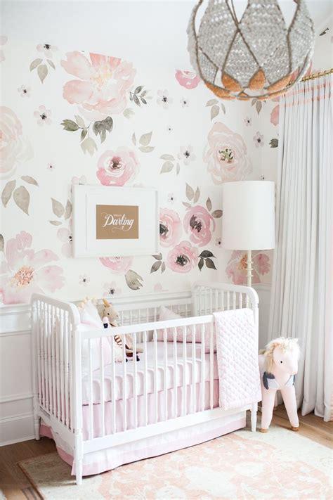 pink wallpaper baby nursery in the nursery with monika hibbs floral nursery floral