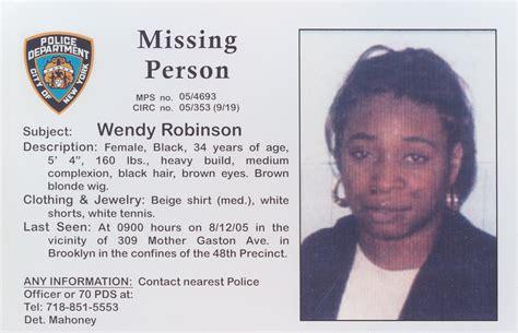 Search Missing Bk Wendy Robinson Jpg 1 186 215 764 Pixels New York Missing