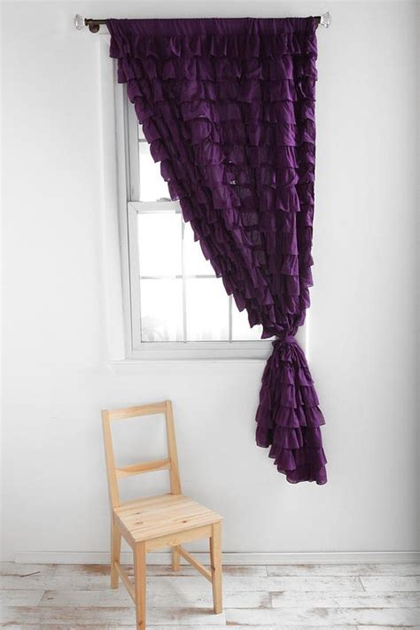 plum bedroom curtains waterfall ruffle curtain plum color curtains for